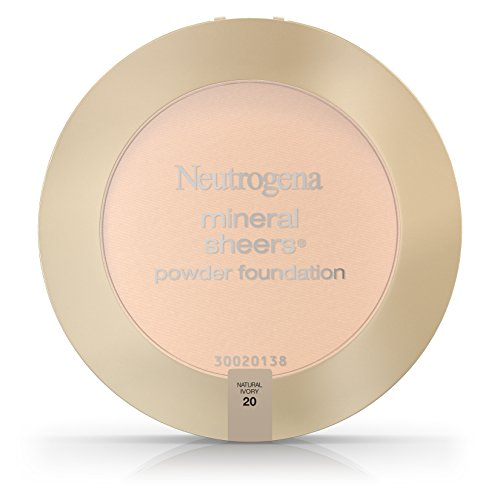 Neutrogena Mineral Sheers Compact Powder Foundation Spf 20, Natural Ivory 20, .34 Oz. (Pack of 2)