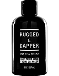 RUGGED & DAPPER – Facial Cleanser for Men – 8 oz - Daily Foaming Scrub with Natural and Certified Organic Ingredients – Premium Quality All-In-One Face Wash