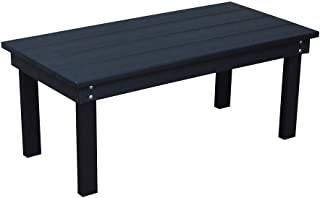 product image for Outdoor Hampton Rectangle Coffee Table - Black Poly Lumber - Recycled Plastic