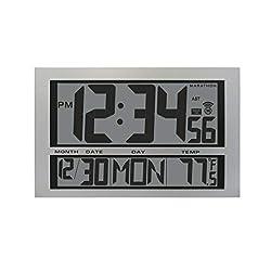 Marathon CL030025 Commercial Grade Jumbo Atomic Wall Clock with 6 Time Zones, Indoor Temperature & Date