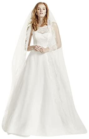 b33f052d373 Illusion Lace Tank Wedding Dress With Tulle Skirt Style Wg3711 At