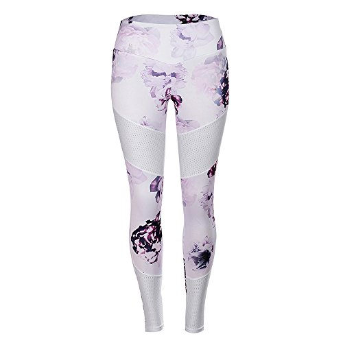 URIBAKE ❤ Women's Fitness Leggings High Waist Floral Print Tights Sports Gym Yoga Running Athletic Pants ()