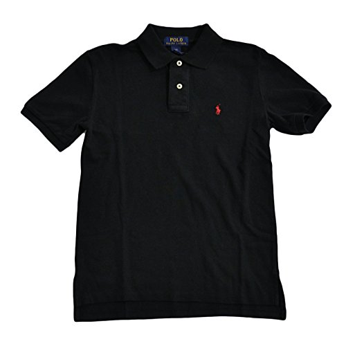 Polo Ralph Lauren Boys Classic Mesh Polo Shirt (Black, X-Large / 18/20)