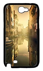 Good Morning Venice Polycarbonate Hard Case Cover for Samsung Galaxy Note 2/ Note II/ N7100 Black