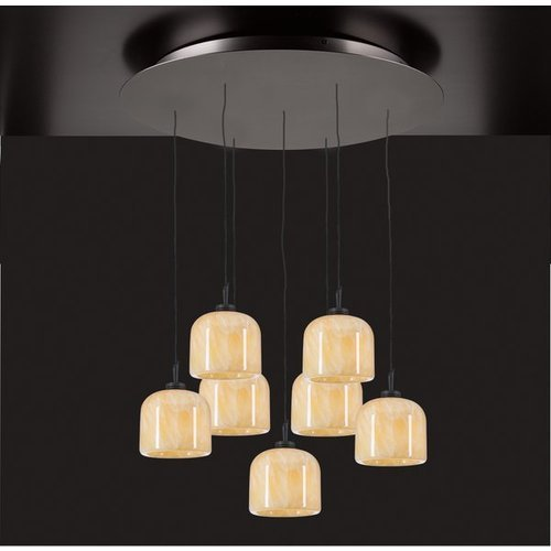 PLC Lighting 2827 ORB Pendant from Cuttle Collection