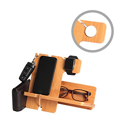Bamboo-Smartphone-Watch-Stand