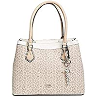 Guess Women's Faux Leather Tote Bag - Khaki Multi