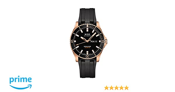 Amazon.com: Mido Ocean Star Captain V M026.430.37.051.00 Black / Black Rubber Analog Automatic Mens Watch: Mido: Watches