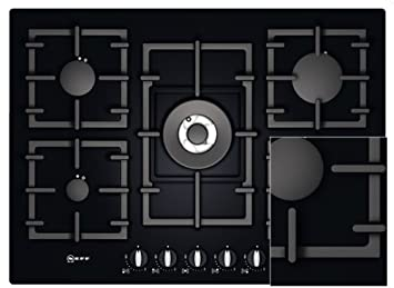 Neff T63S46S1 Built-in Gas Hob Black Hob - Plate (Built-in, Gas ...