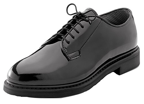 Rothco Uniform Oxford|Hi-Gloss Shoe, Black, W|11.5