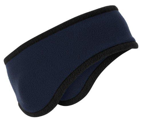 port-authority-mens-two-color-fleece-headband-osfa-navy