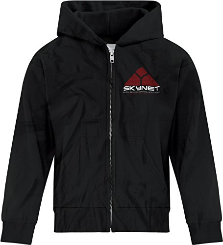 Price comparison product image BSW Girl's Skynet Cyberdyne Systems Neural Net Based AI Zip Hoodie Med Black