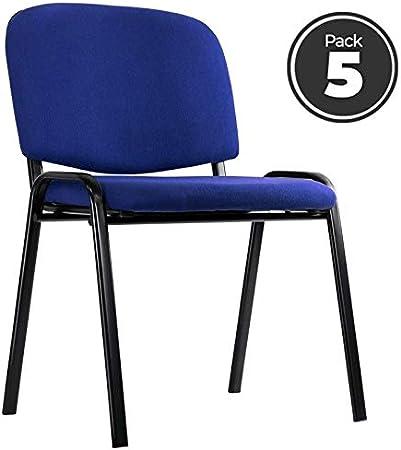 Regalos Miguel - Sillas Oficina - Pack 5 Sillas Ofis - Azul ...