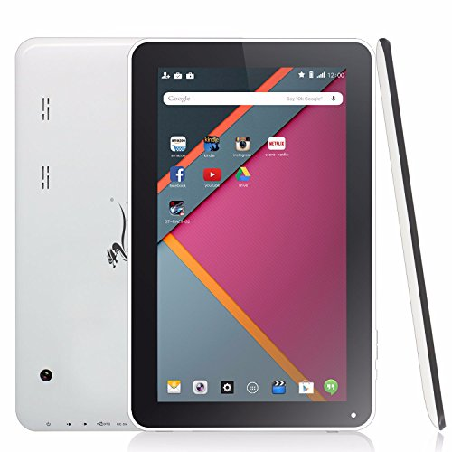 Dragon Touch A1X Plus 2016 Edition 10.1 inch Quad Core Tablet, Android OS, 1GB RAM 16GB Nand Flash, HD Display 1024x600, Bluetooth, Mini HDMI Output by Dragon Touch