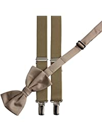 Bow Tie and Suspender Set Combo in Men's & Kids Sizes