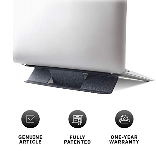 MOFT Mini Invisible Laptop Stand, Anti-Slide Portable and Ultra-Light Stand for MacBook, Air, Pro, Tablets and Laptops ( Space Grey)