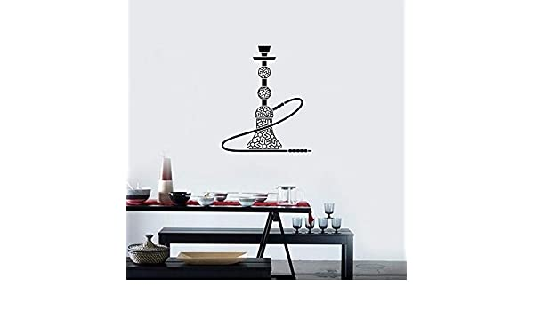 wukongsun Aplique de Pared de Vinilo de cachimba Hookah Bar Sala de Fumadores Estilo árabe Pegatina Interior Mural Sala de Estar decoración del hogar Negro 57x67 cm: Amazon.es: Hogar