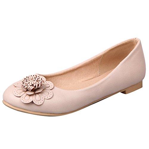 Barokke Dames Applique Retro Casual Comfort Flats Schoenen Beige