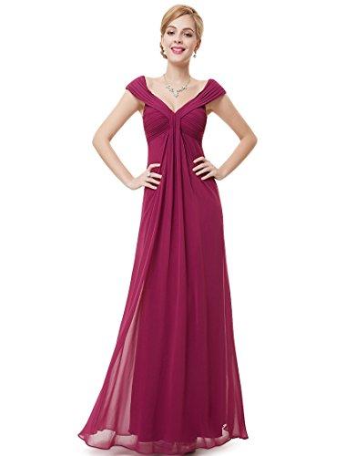 V-Neck Stretch Satin Cocktail Dress - 6