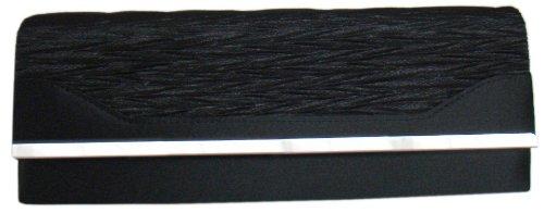 DIVA-MODE - Cartera de mano de poliéster para mujer negro negro 28x10x5 cm