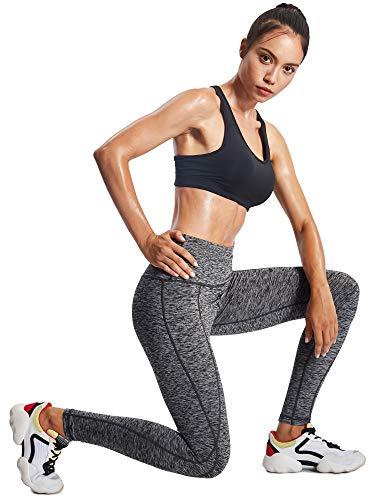 Neleus Tummy Control High Waist Workout Running Leggings for Women,9033,Yoga Pant 3 Pack,Black,Grey,Red,XS,EU S by Neleus (Image #5)