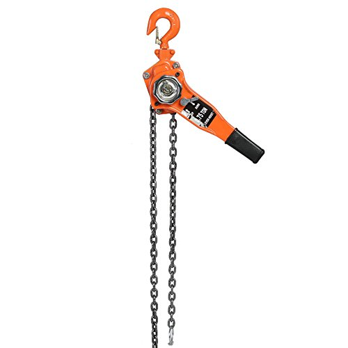 0.75t 3M Heavy Duty Lever Ratchet Hoist Winch Pulley Lift Car Engine Heavy Load Lifting Tool Great for Construction Work and Moving
