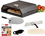 Emeril Lagasse Pizza Grill, Pizza Oven Kit for Outdoor Grill or Indoor Gas Stovetop, Premium Pizza Baking Syst