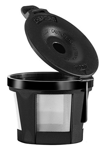 Chefman Reusable Coffee Filter for for Single Brew K-Cup Makers Fits All RJ14-SKG Models, Stainless Steel & Mesh Pod Replacement, Compatible with Grounds or Loose Leaf Tea,