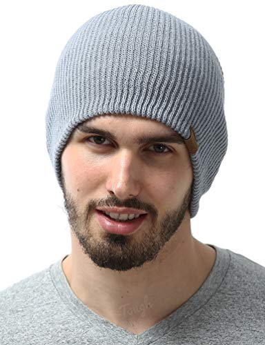 (Tough Headwear Daily Knit Ribbed Beanie Warm, Stretchy & Soft Beanie Hats for Men & Women - Year Round Comfort - Serious Beanies for Serious Style )