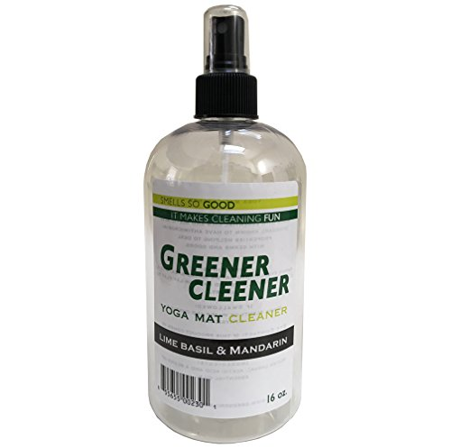 LIME BASIL & MANDARIN Yoga Mat Cleaner 16 ounces Spray Wash Deodorize, Disinfect Restore. SAFE FOR ALL MATS AND PROPS
