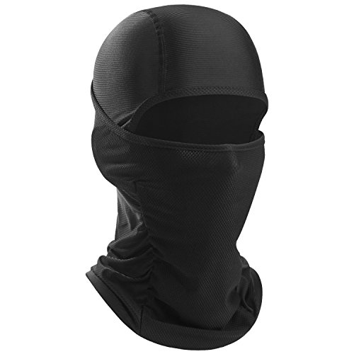 WTACTFUL Breathable Tactical Balaclava Windproof Motorcycle Soft Face Mask Helmet Liner Dust UV Sun Protection Ski Hunting ATV Riding Cycling Paintball Racing or Any Outdoor Activities Black Men Women ()
