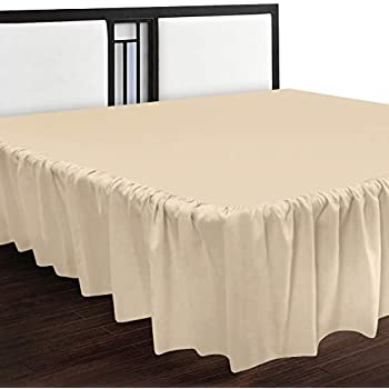 Utopia Bedding King Ruffle Bed Skirt,16 Inch Drop (Beige)