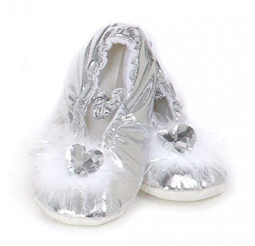 Fairy Shoes (Creative Education's Silver Princess Slippers Size Large)