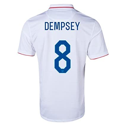 d6a307ff673 Amazon.com   Nike Clint Dempsey  8 USA 2014 FIFA World Cup Brazil Small  White Home Soccer Jersey   Sports   Outdoors