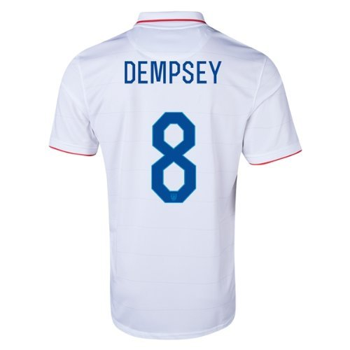 NIKE Clint Dempsey #8 USA 2014 FIFA World Cup Brazil Small White Home Soccer Jersey