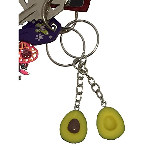 Cute Avocado Keychain Set for Bestfriends and Couples - Matching Keyrings Fits Like A Puzzle. A Perfect Gift for All Occasions, Valentines, Birthdays and More!