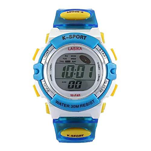 Electronic Watch for Kids, Yezijin Multi Function Alarm Clock Student Waterproof Sports Fashion Electronic Watch Under 10 Dollars (Clock Dollar)