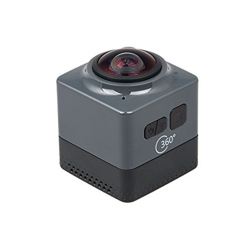 Topjoy Cube 360 Action Video Camera WiFi H 264 360 Degrees Panorama Camera 360x190 Large Panoramic 360 Lens Action Camera Mini Car DVR (Black)の商品画像
