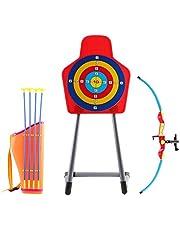 deAO Juego de Tiro al Blanco con Infrarrojos Conjunto de Arco y Flechas Playset Infantil Incluye Diana con Soporte y Funda de Arco