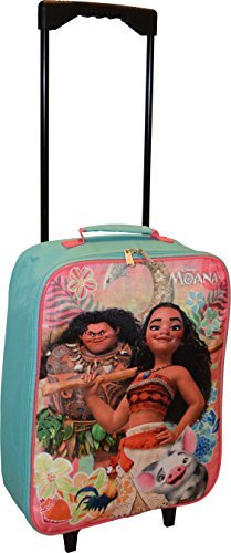 Disney Moana 15'' Collapsible Wheeled Pilot Case - Rolling Luggage
