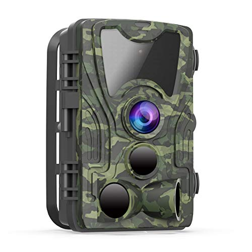 FHDCAM Trail Camera - Wildlife Game Hunting Cam with 1080P HD, Motion Activated, Night Vision, Wide Angle Lens, IP65 Waterproof Scouting Camera for Wildlife and Home Surveillance [New Version]