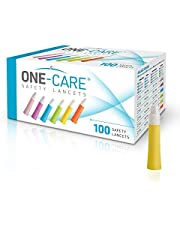 ONE-Care ® Safety Lancets, Contact-Activated, 21G x 2.2mm, 100ct