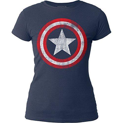 Juniors: Captain America - Shield Juniors (Slim) T-Shirt Size S