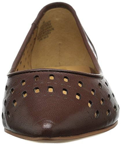 West Nine Dark en Brown Singlelady Ballet Cuir Plat dqHw6v4q