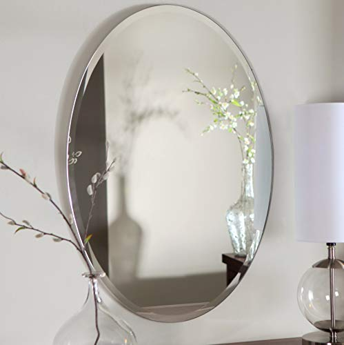 Mirrors and More Oval Frameless Beveled Bath Mirror|20