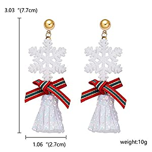 Gespout Christmas Series Earrings Snowflake Design Bell Earrings for Wedding Evening Anniversary Valentine Gift…