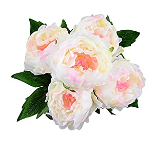 HoveBeaty Artificial Peony Silk Flowers Bouquet Home Wedding Decoration (pink) 76