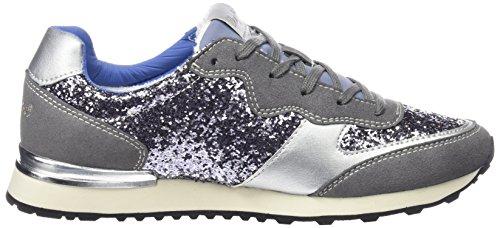 Wrangler Runway Glitter Damen Sneakers Silber (422  Steel Glitter)