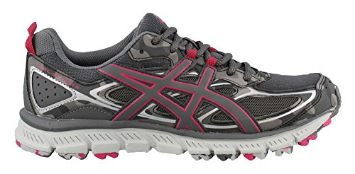 ASICS Women's Gel-Scram 3 Running Shoe, Carbon/Carbon/Cosmo Pink, 8.5 Medium US