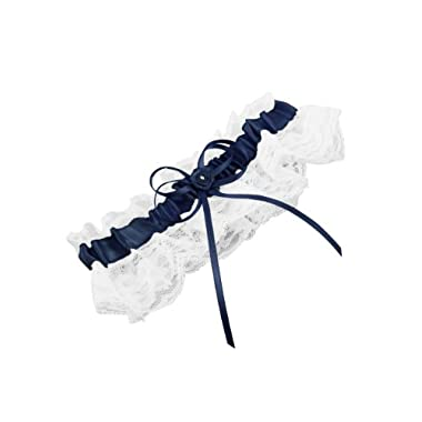 Weddingstar Bridal Toss Garter, Navy Blue